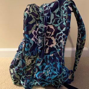 Vera Bradley Bags - Vera Bradley Blue/Green Floral Pattern Backpack💙